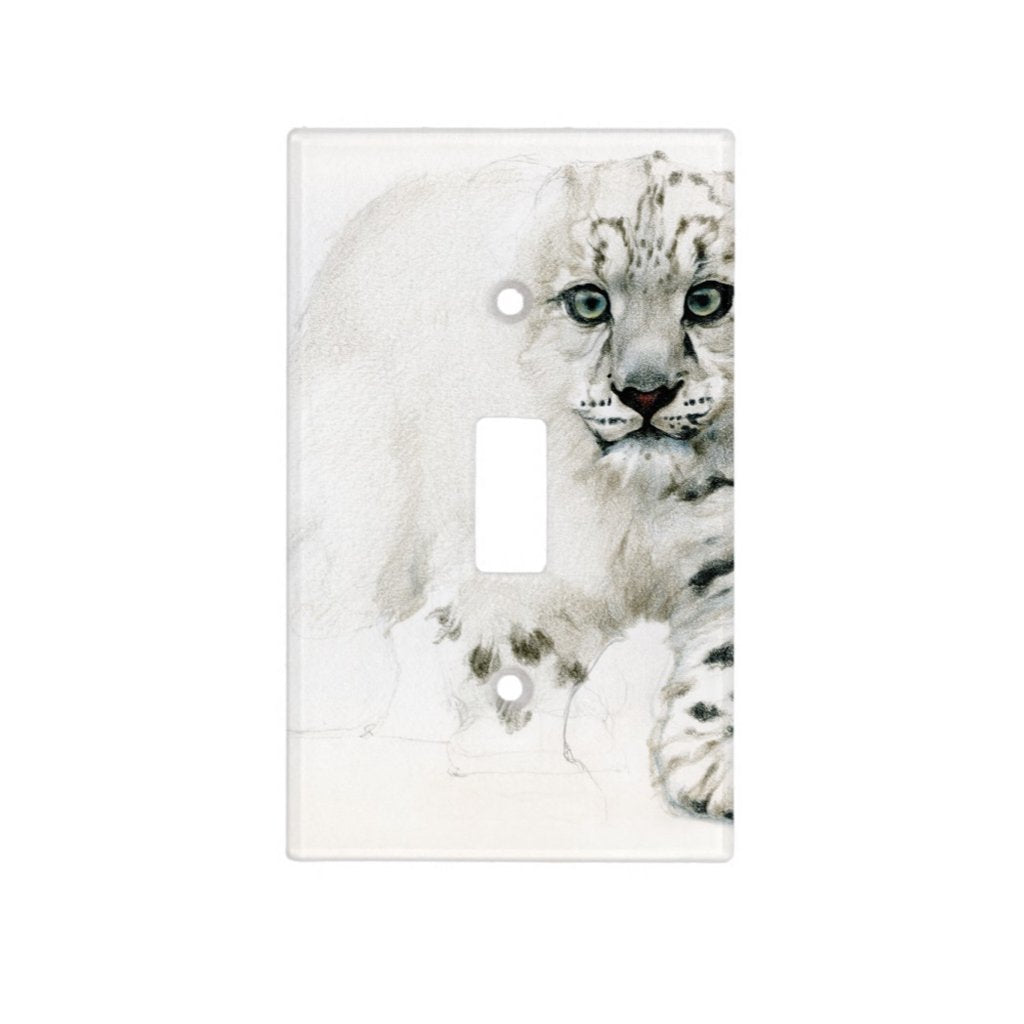 [469-SC] Snow Leopard Cub Light Switch Cover
