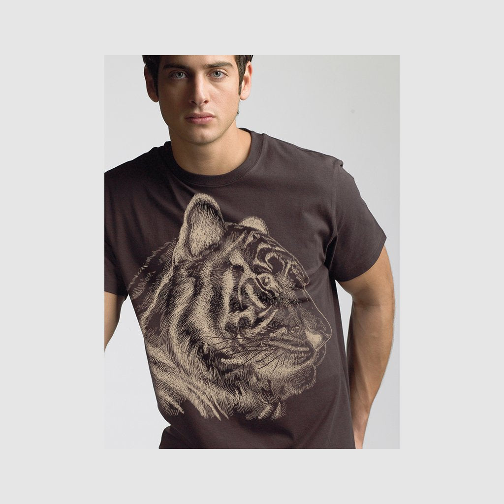 [481-T] Tiger Portrait Sketch2 Tee