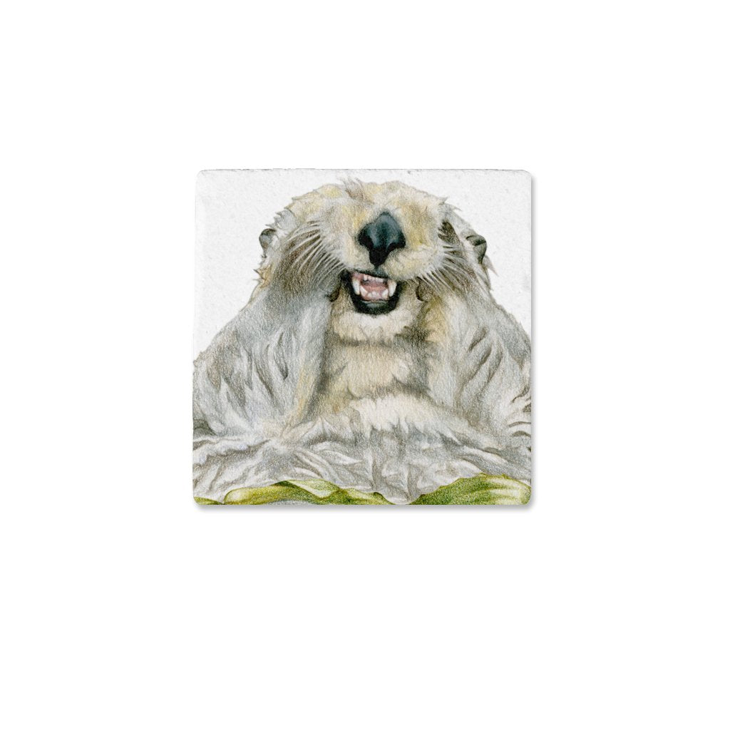[CST-510] Sea Otter Portrait Coasters