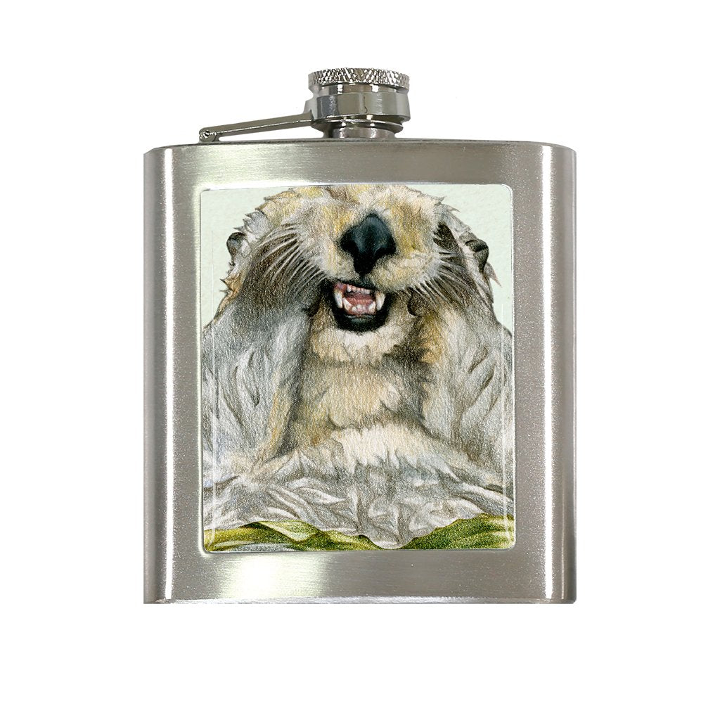 [FL-510] Sea Otter Portrait Flask