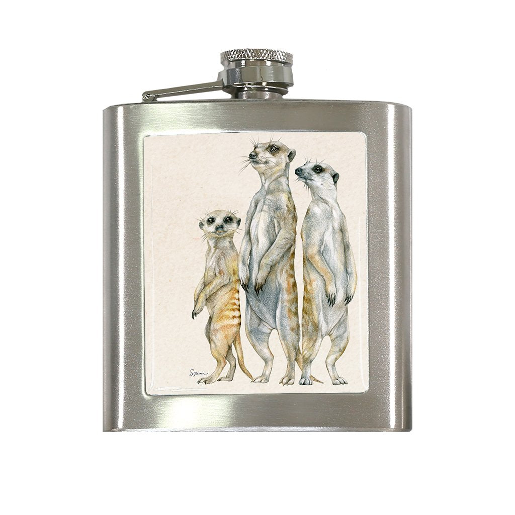 [FL-535] Meerkat Family Flask