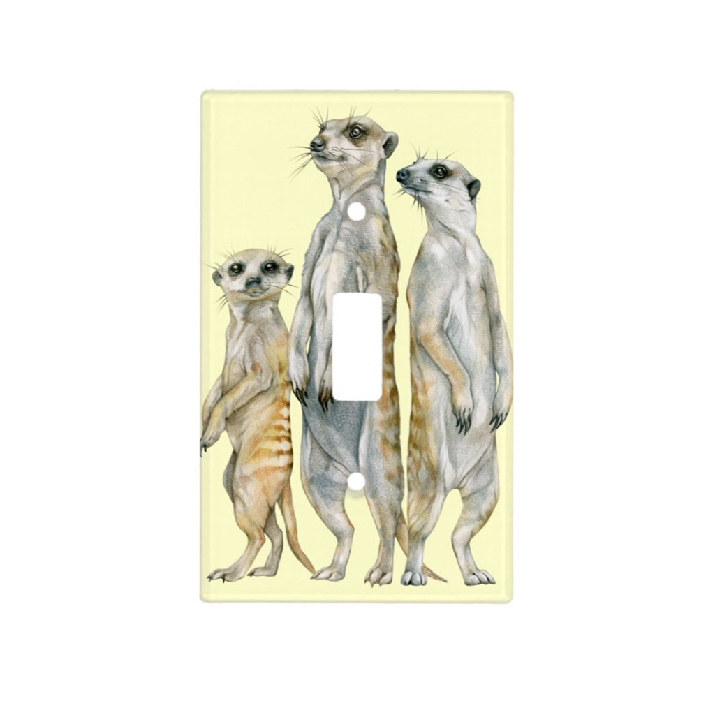 [535-SC] Meerkat Family Light Switch Cover