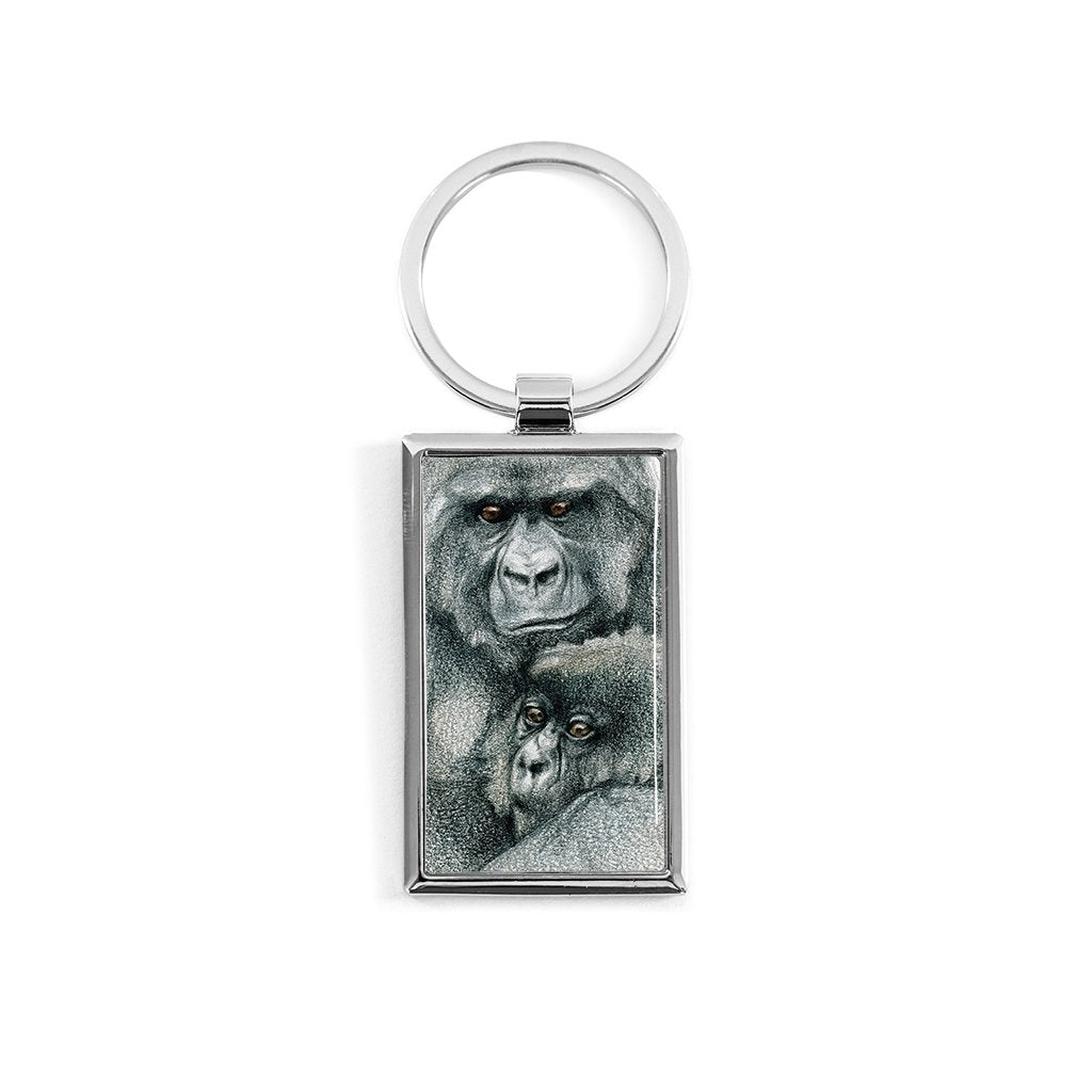 [577-KR] Mountain Gorilla Duo1 Key Ring