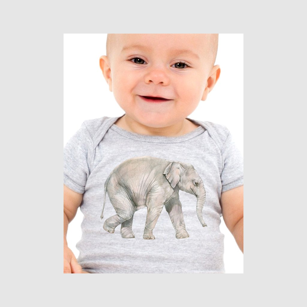 [606-T] Asian Elephant Calf Tee