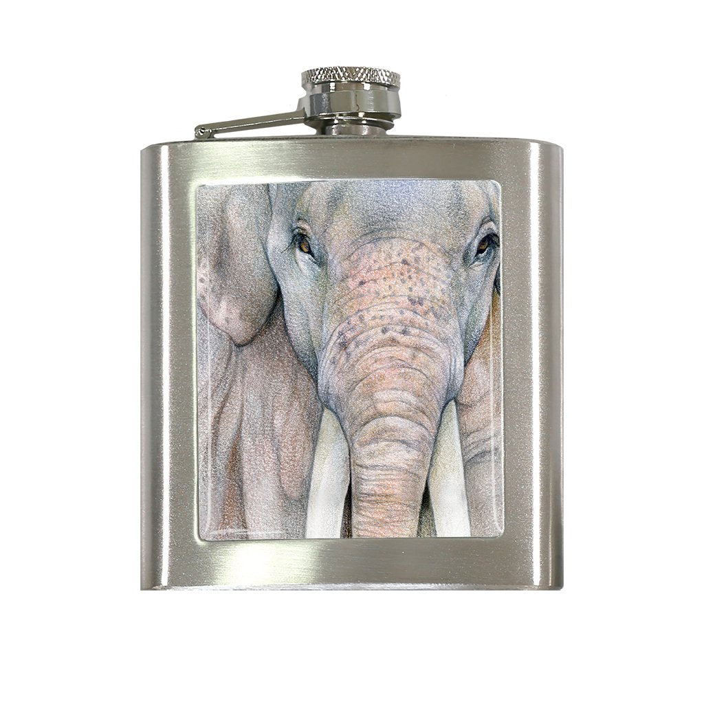 [FL-608] Asian Elephant Bull Flask