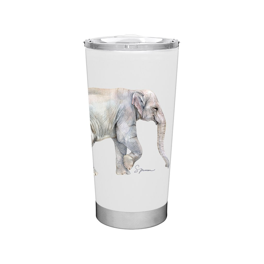 [TF-609] Asian Elephant Family Frost Tumbler