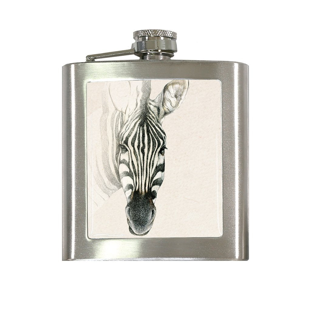 [FL-664] Zebra Face Flask