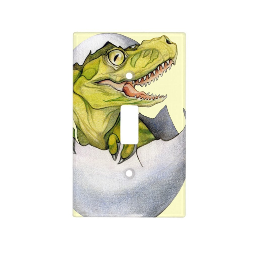 [751-SC] T-Rex Hatchling Light Switch Cover