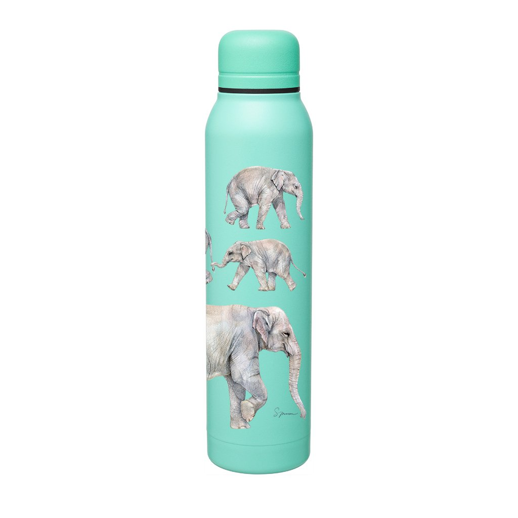 [BS-800] Asian Elephants Silo Bottle