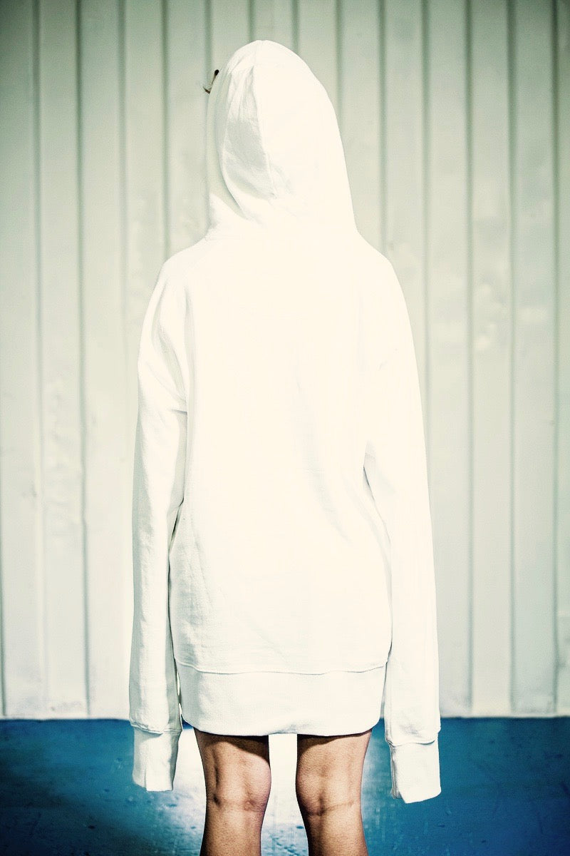 PURE WASTE BASIC HOODY WHITE