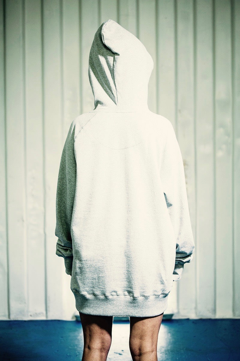 PURE WASTE BASIC HOODY GREY