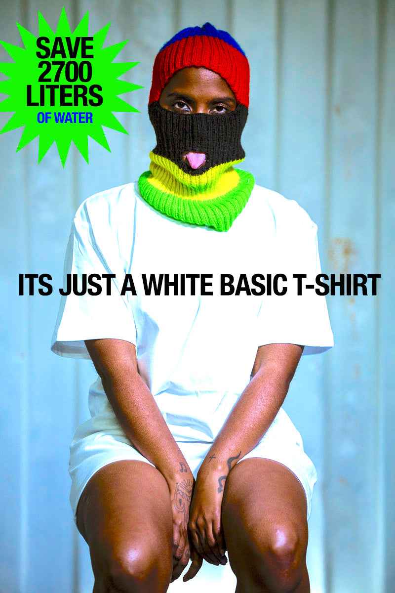 PURE WASTE BASIC MALE T-SHIRT WHITE