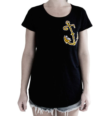 Leopard Anchor Tee