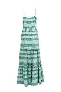 Devotion Long Zakar Mint Green Chara Dress