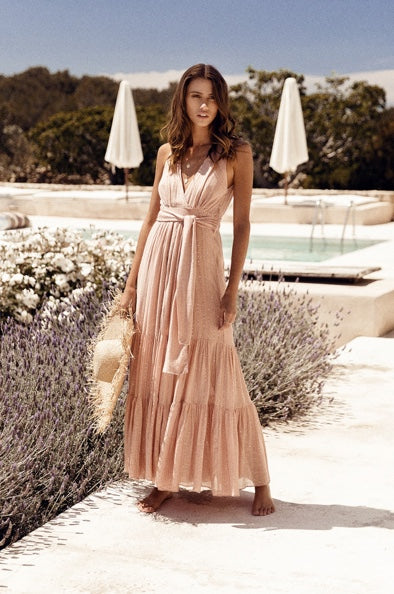 Sundress Natalia Roma Nude Maxi Dress