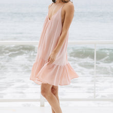 9seed St Tropez Ruffle Mini Dress/Cover-up in Dusty Rose - Lightweight Gauze