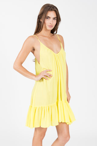 Sundress Bella Foute Flared Mini Beach Dress - Black