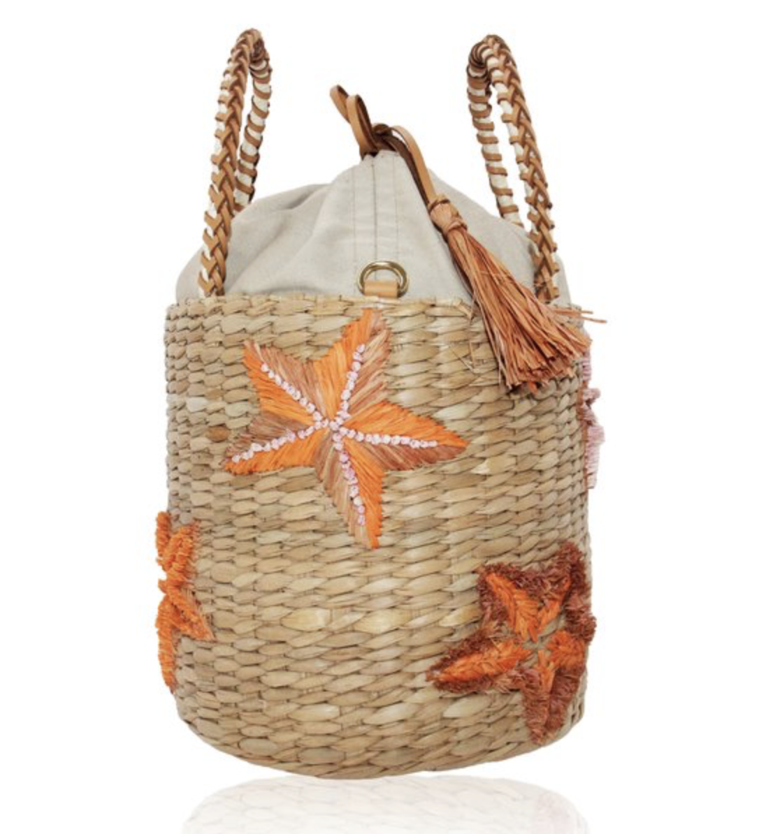 Aranaz Keira Seagrass Bucket Bag