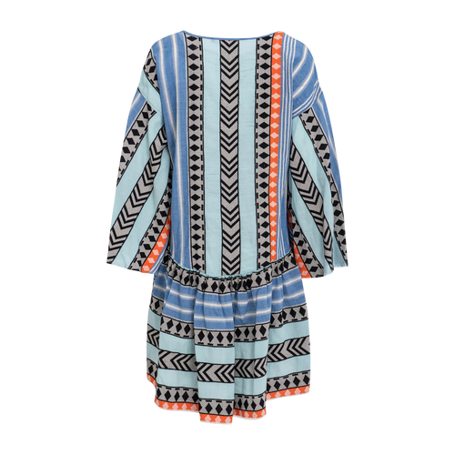 Devotion Zakar Orange/Blue Dress