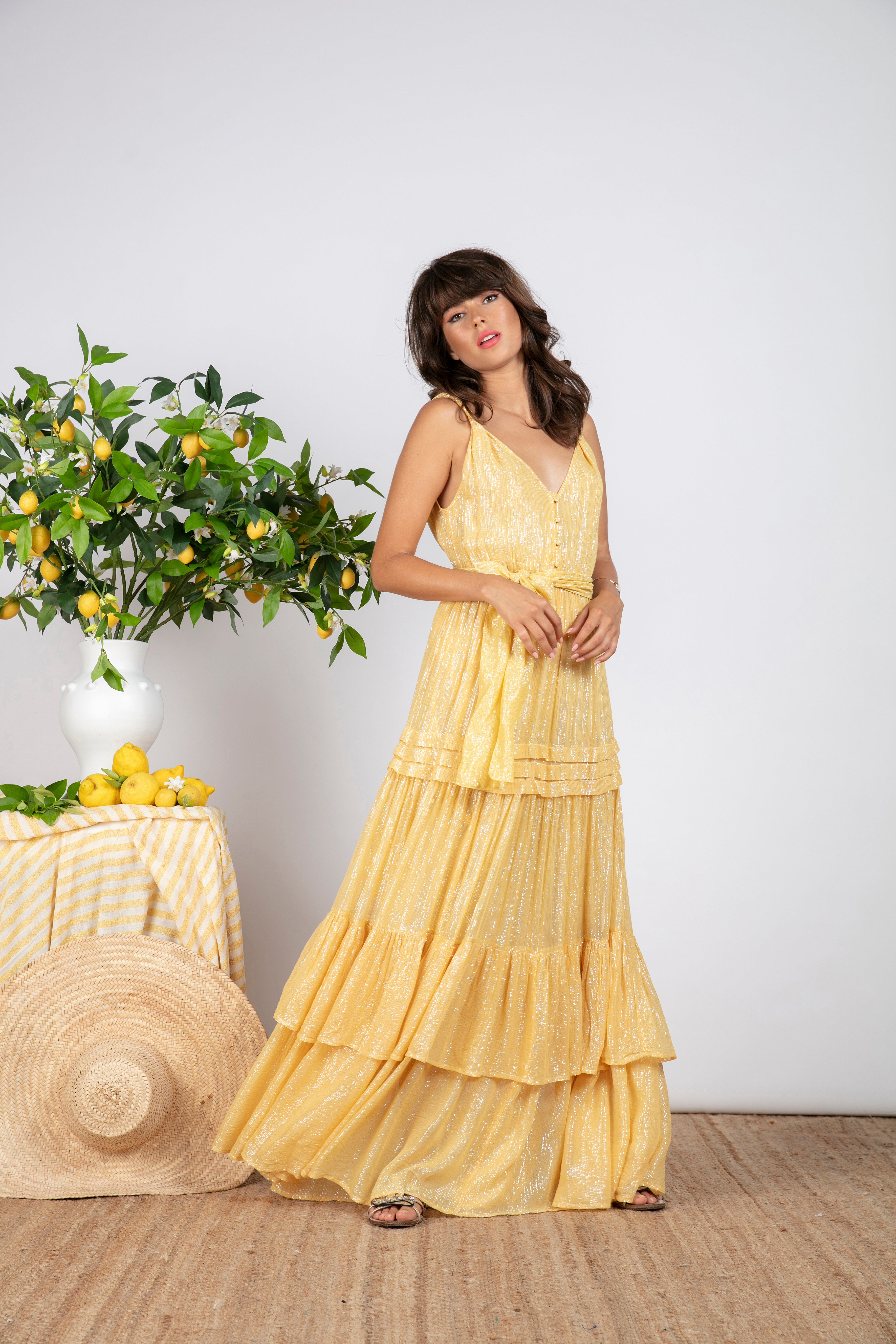 Sundress.fr Calypso Marbella Yellow Long/Maxi Dress