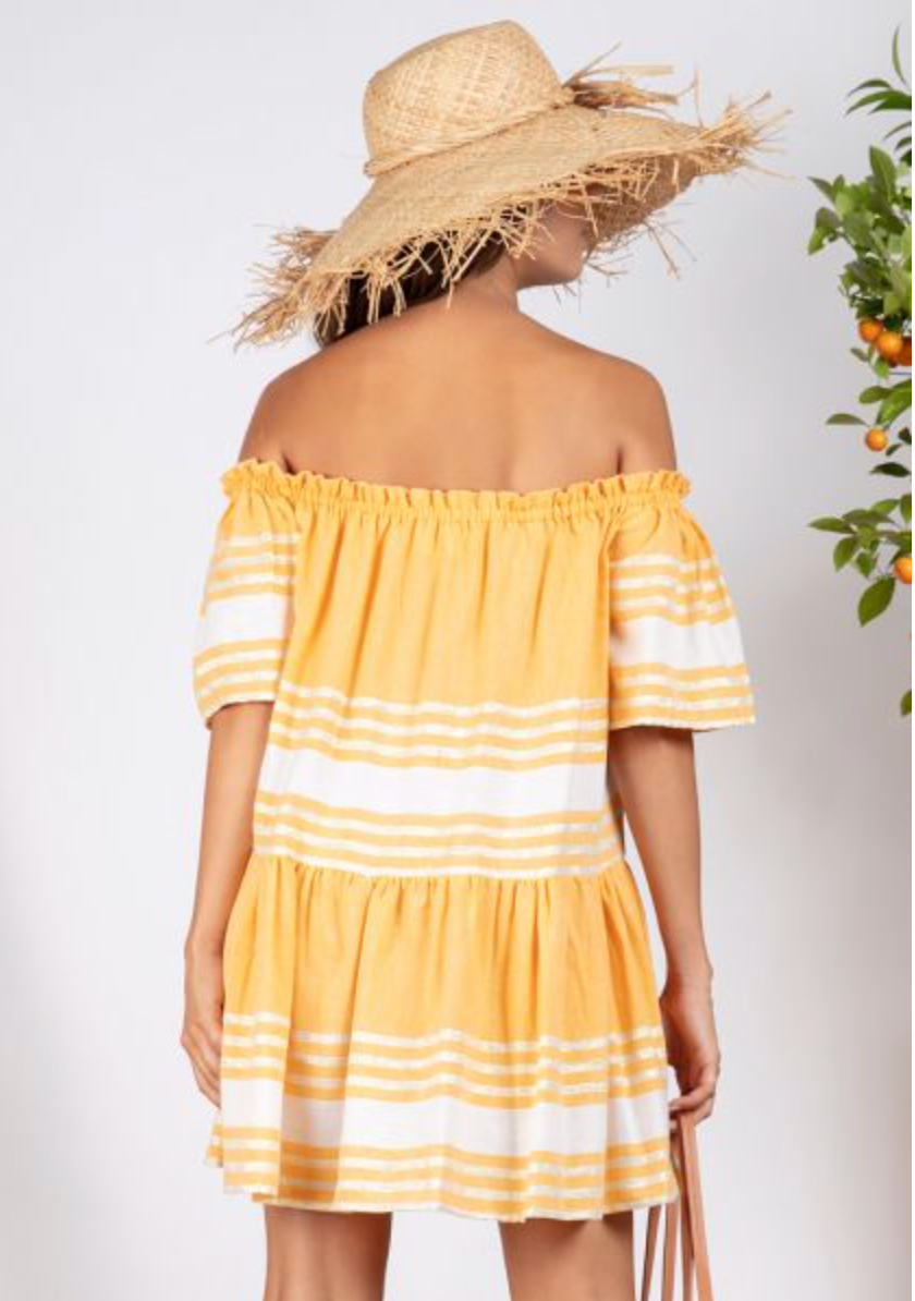 Sundress Bella Fouta Curcuma Short Dress