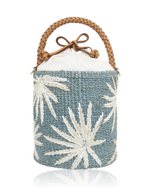 Aranaz Ola Bucket Bag - Baby Blue Aqua