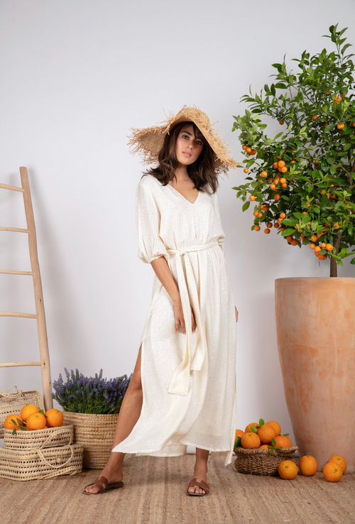 Sundress Halo Saint Barth Coconut Long Tunic Dress