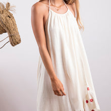 Sundress Alice Off-White and Daisies Embroideries Maxi Holiday Dress