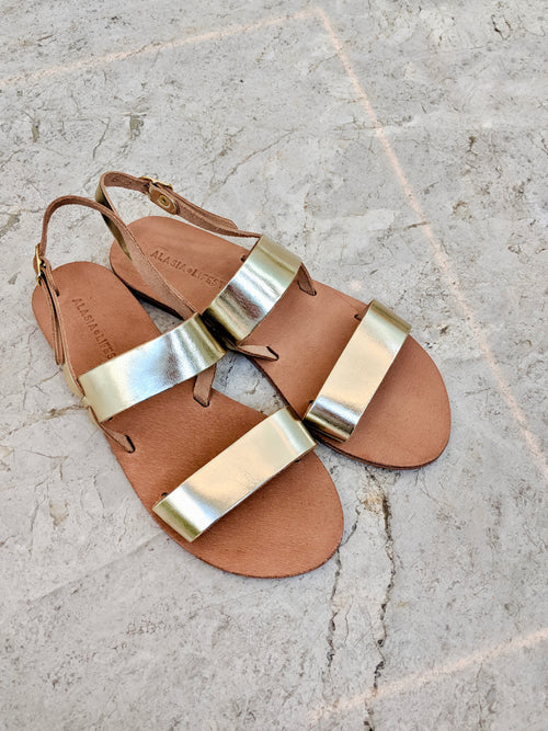 Alasia Lifestyle Plato Gold Greek Sandals