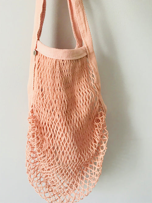 Bucci Net/Mesh Grocery and Beach Bag - Pink