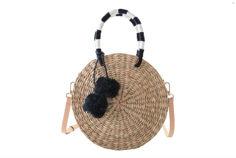 Aranaz Ola Bucket Bag - Natural/Green