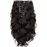 Raw Indian Elite Wavy Clip-In Hair Extensions