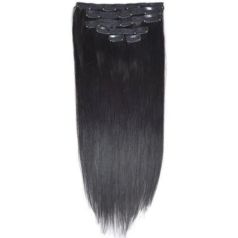 Raw Indian Elite Straight Clip-In Hair Extensions