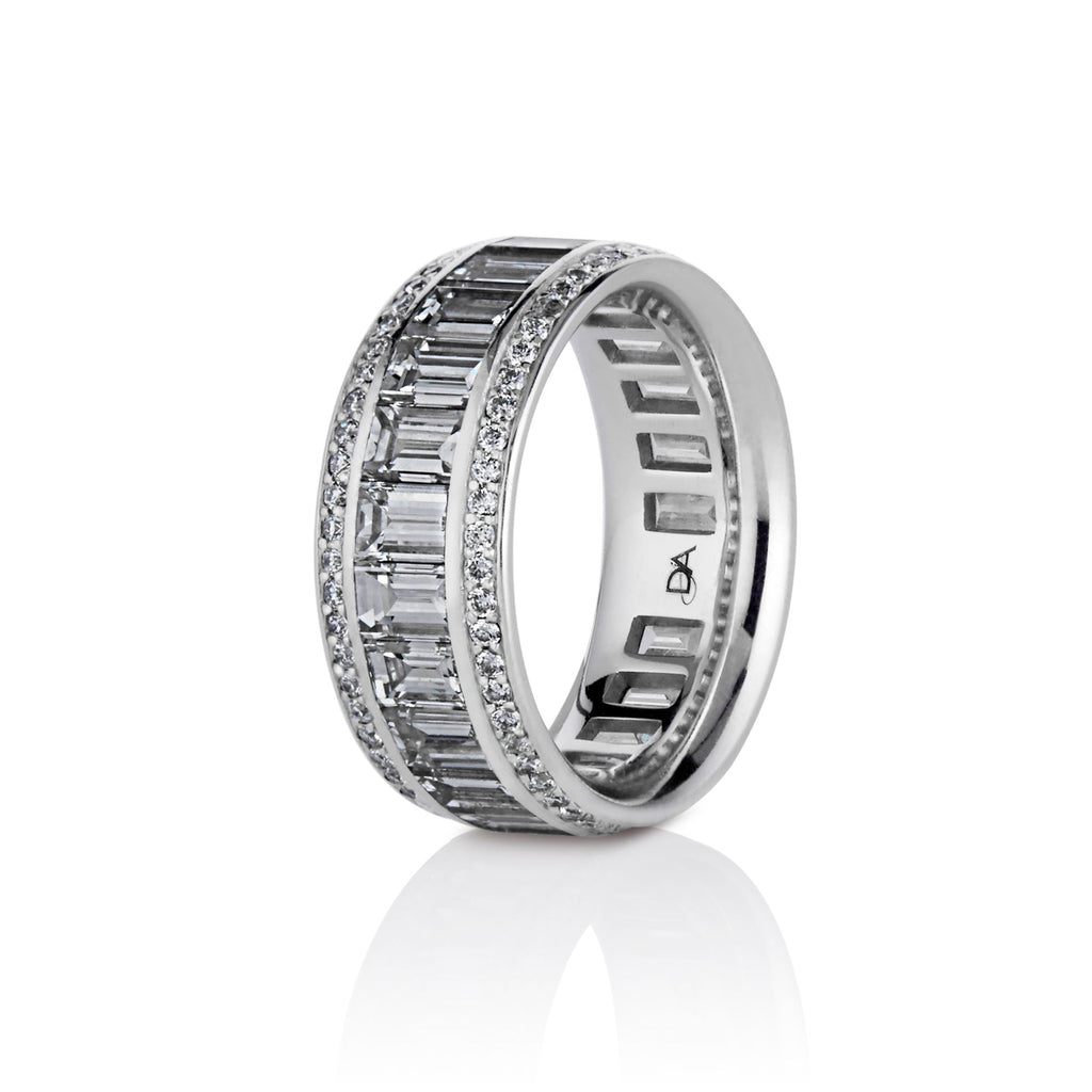 Ainsley Baguette Diamonds Band in Platinum - David Alan