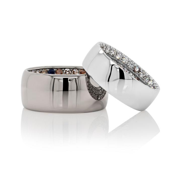 Carter Pavé Band in 18K Gray Gold - David Alan