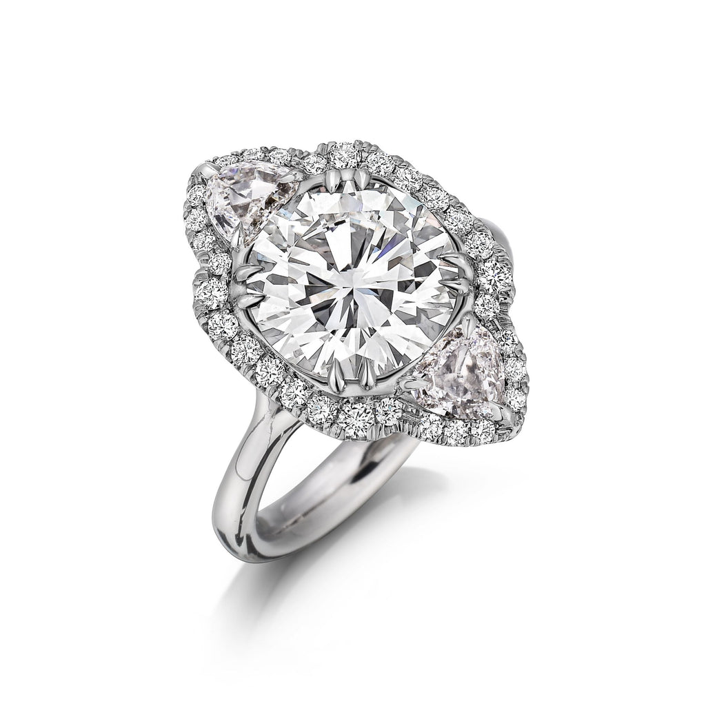 Helen Round Brilliant cut Diamond Engagement Ring in Platinum - David Alan