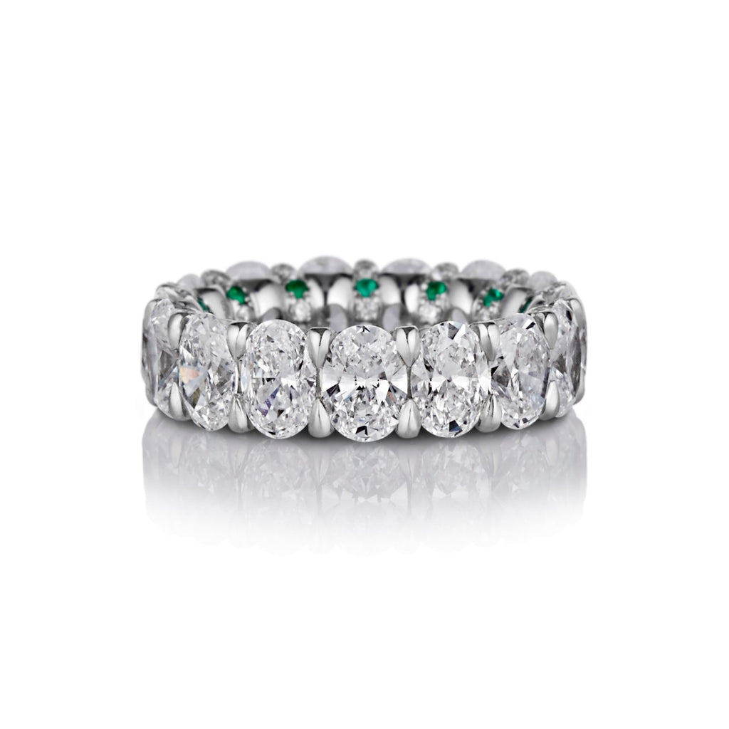 Helena Oval Diamonds Band in Platinum - David Alan