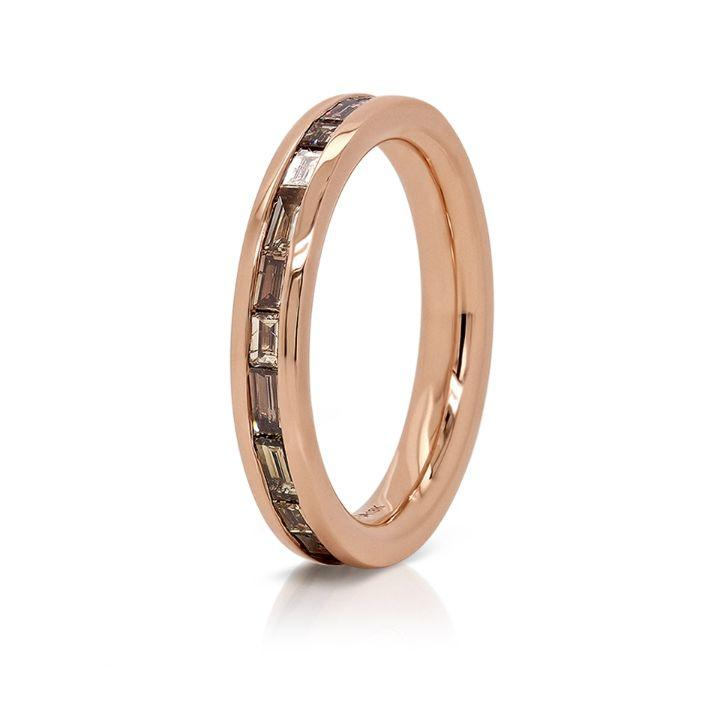 Kingston Baguette Diamonds Band in 18K Rose Gold - David Alan
