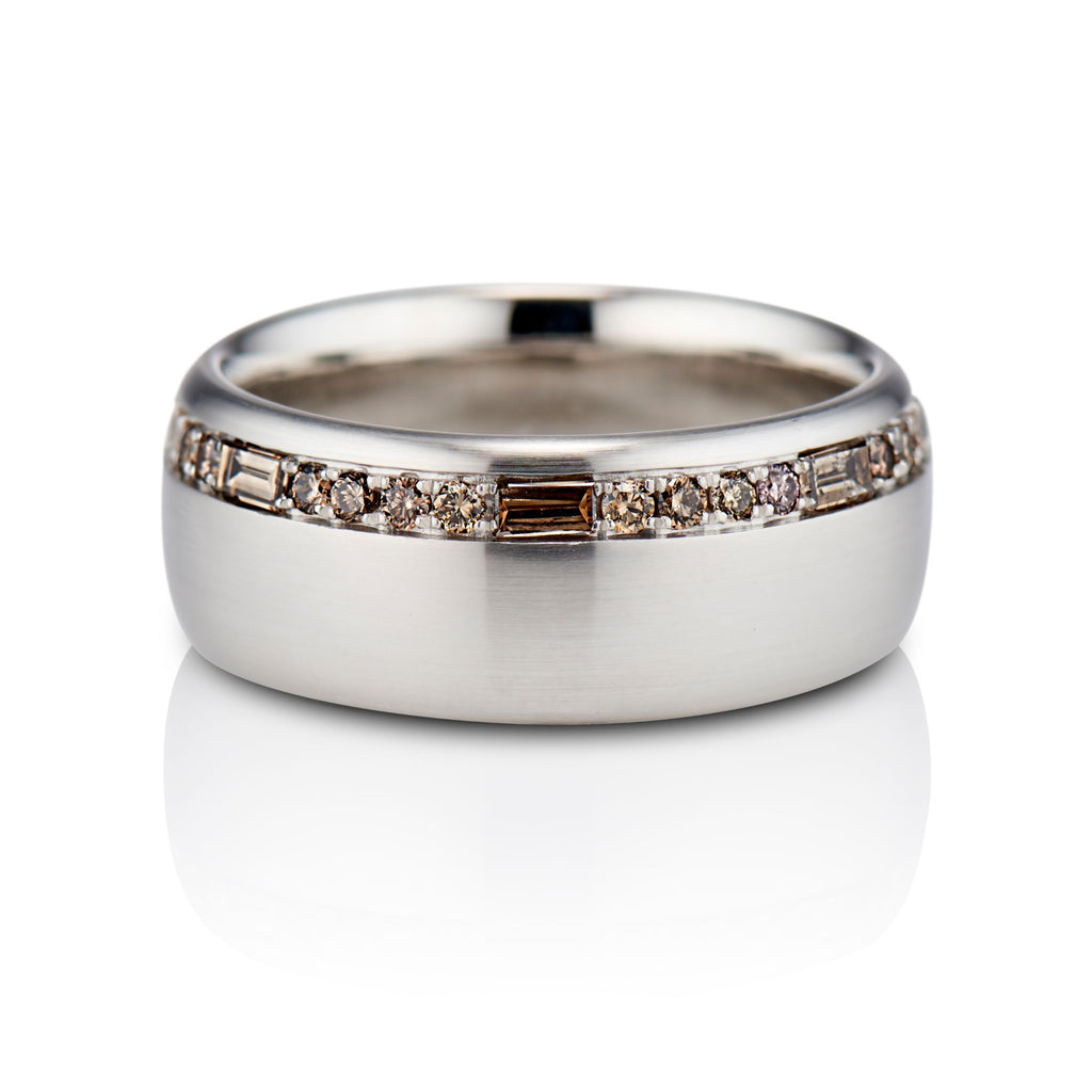 Lafayette Baguette Diamonds Band in Platinum - David Alan