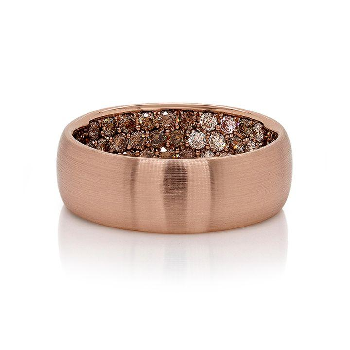 Prince Pavé Band in 18K Rose Gold - David Alan
