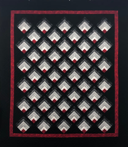 Moondance - Log Cabin Quilt made by Deb Luttrell of Stitchin' Heaven