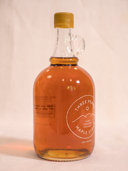 Three Peaks Maple Syrup - 33.8 oz. - Free Shipping