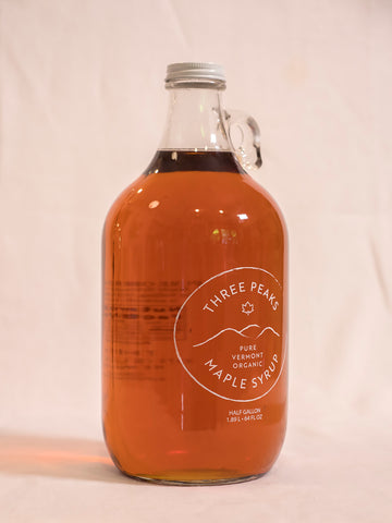 Three Peaks Maple Syrup - Half Gallon - 64 oz. Grade A. Free shipping