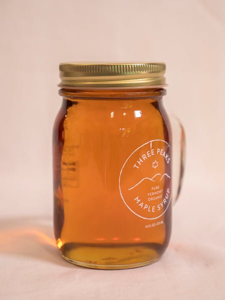 Three Peaks Maple Syrup - 16 oz Grade A. Free shipping