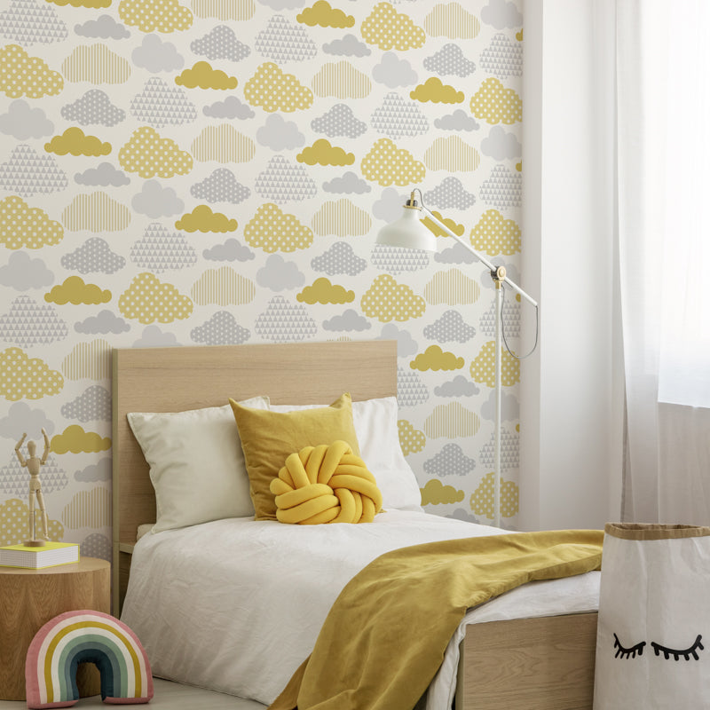 Papel Tapiz Decora Pro  - Superfresco -Colección Individual Kids -Clouds 108267