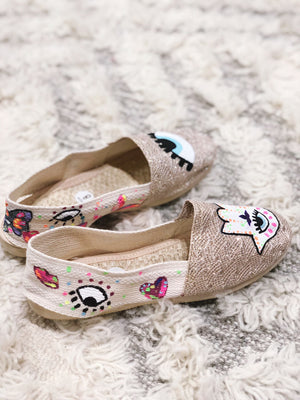 Hamsa and Eye Devil Espadrilles Shoes