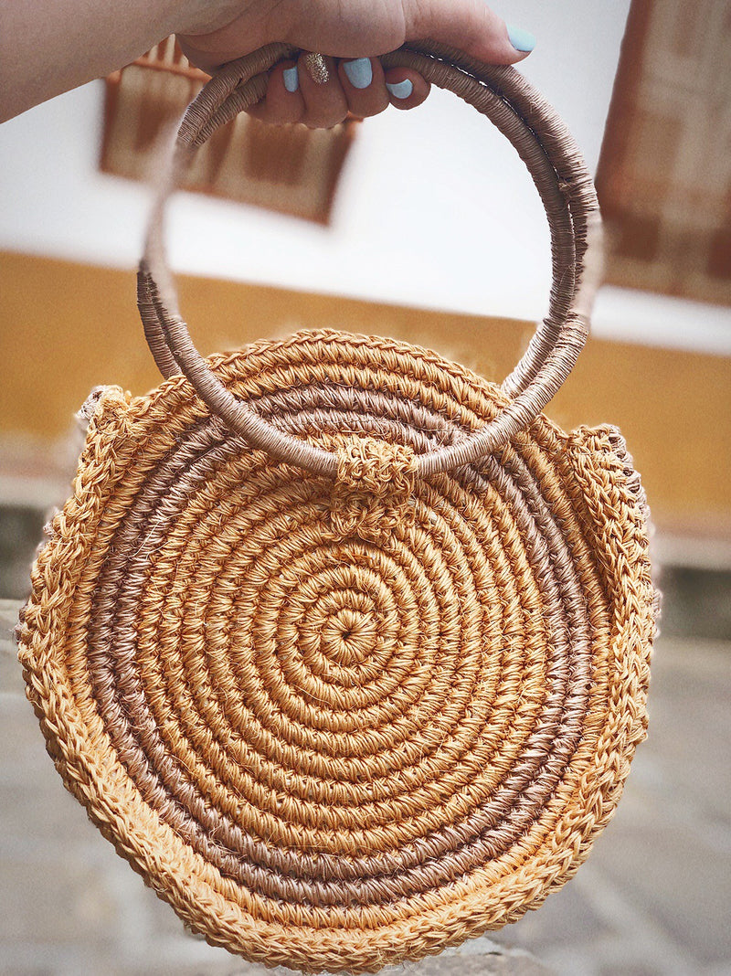 Fique round natural bag