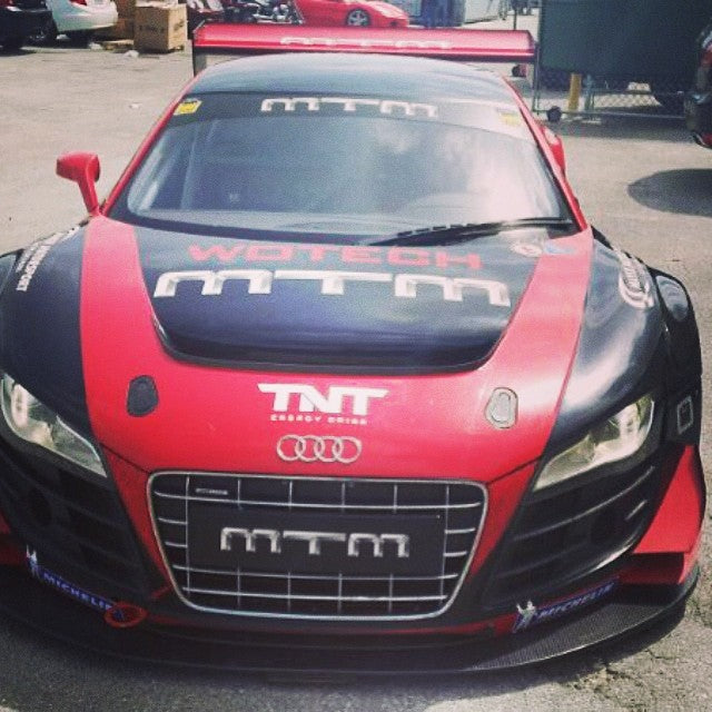 #ansamotorsports new arrival at the shop. #audiR8gt3 to a track near you soon