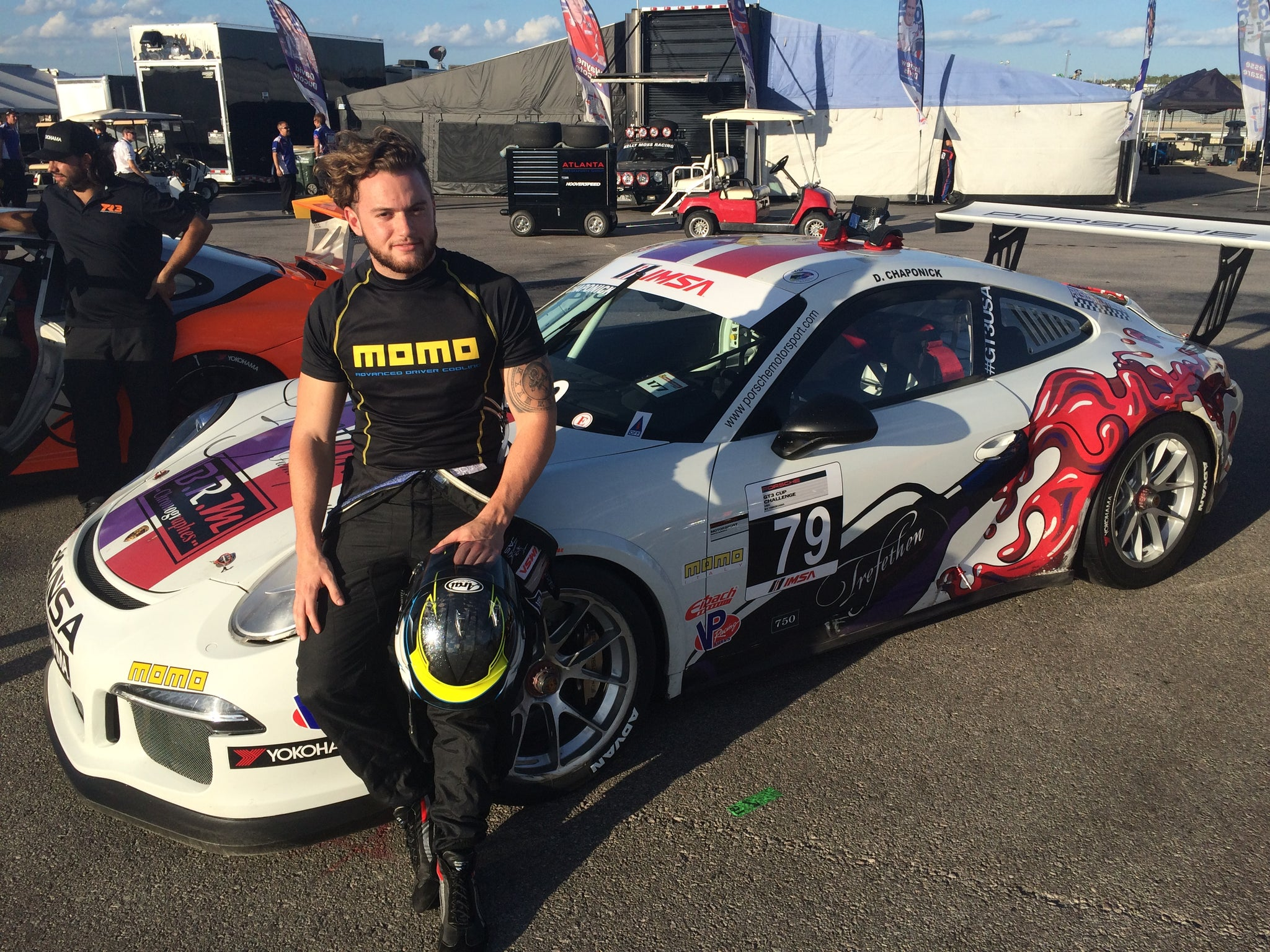 DORE CHAPONICK SCORED PROMISING RESULTS IN PORSCHE GT3 CUP CHALLENGE USA EVENT AT COTA