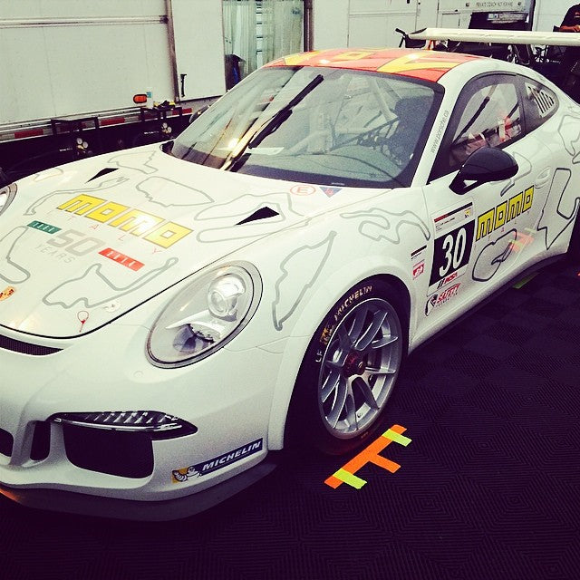 New livery of #ansamotorsports #momo #porschecup for this weekend race in Canada